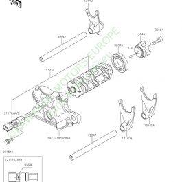 12-Gear Change Drum/Shift Fork(s)