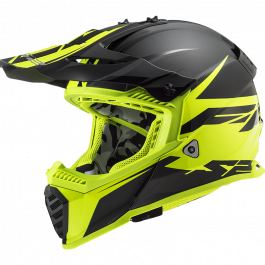 MX437 FAST EVO ROAR MATT BLACK HV YELLOW