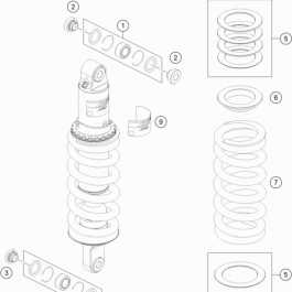 SHOCK ABSORBER DISASSEMBLED